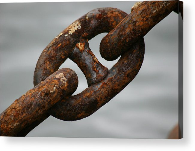 Chain Acrylic Print featuring the photograph Rusty Chain by Hans Jankowski