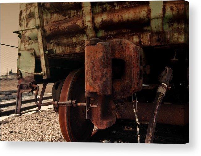 Train Acrylic Print featuring the photograph Rusty Train Back by Sven Brogren
