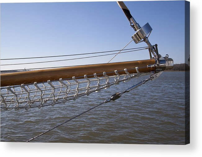 Sailboat Acrylic Print featuring the photograph Sailboat Bowsprit by Dustin K Ryan