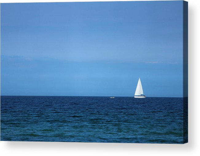 Blue Acrylic Print featuring the photograph Sailboat by Heike Hultsch
