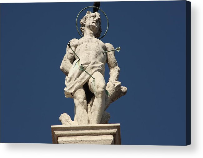 Venice Acrylic Print featuring the photograph Saint Sebastian On Church In Venice by Michael Henderson