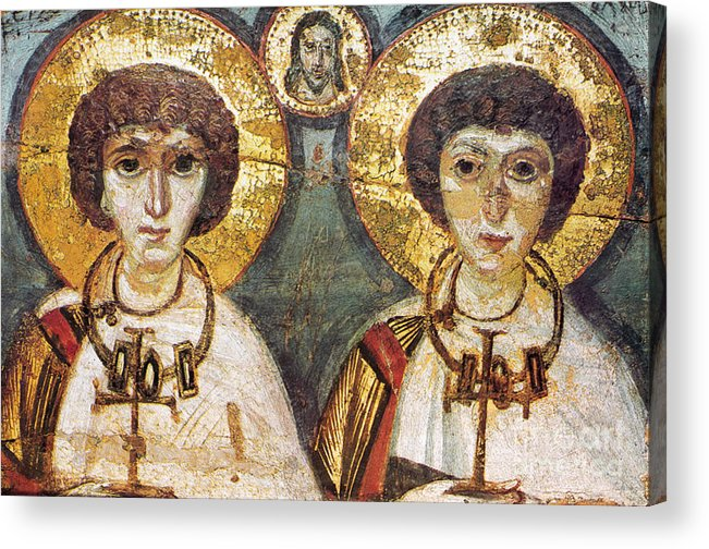 7th Century Acrylic Print featuring the photograph Saints Sergius And Bacchus by Granger