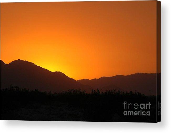 Sunset Acrylic Print featuring the photograph San Jacinto Dusk Near Palm Springs by Michael Ziegler