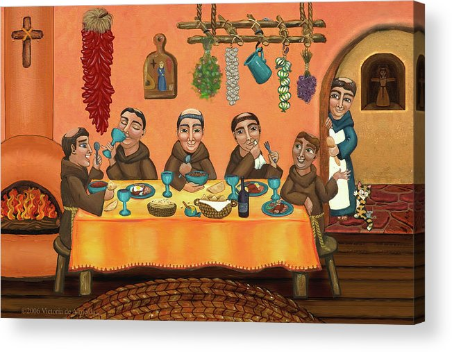 San Pascual Acrylic Print featuring the painting San Pascuals Table 2 by Victoria De Almeida