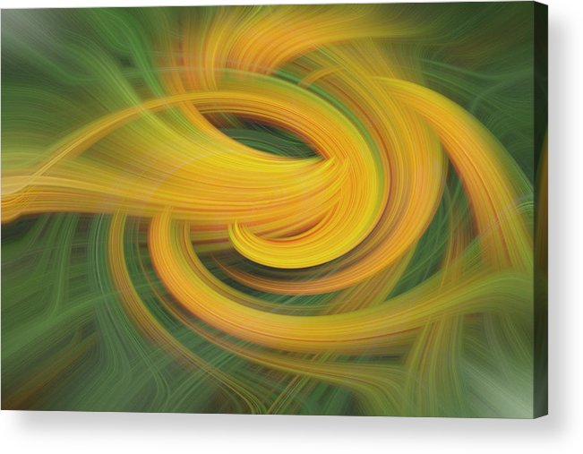 Abstract Acrylic Print featuring the digital art Sanction Support by Linda Phelps