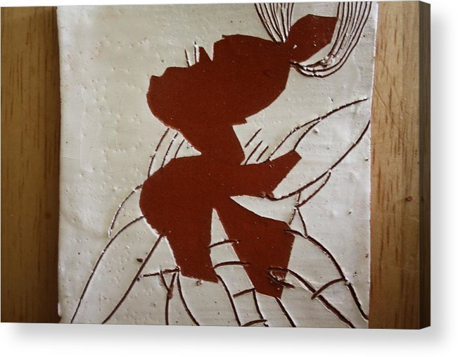Jesus Acrylic Print featuring the ceramic art Sandra - Tile by Gloria Ssali