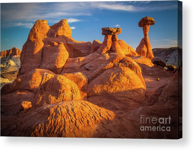 America Acrylic Print featuring the photograph Sandstone Castle by Inge Johnsson