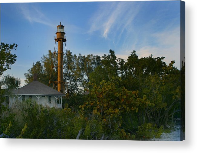 Sanibel Acrylic Print featuring the photograph Sanibel Lighthouse by Joseph G Holland