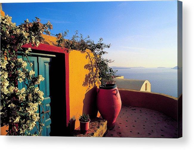 Santorini Acrylic Print featuring the photograph Santorini 09 by Manolis Tsantakis