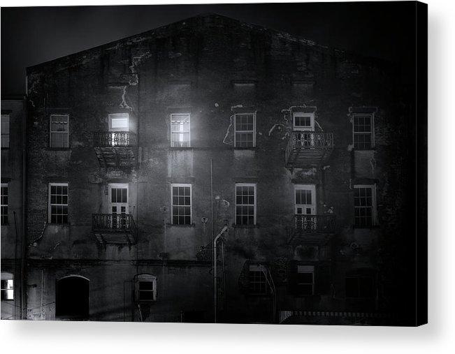 Savannah Acrylic Print featuring the photograph Savannah By Night by Mark Andrew Thomas