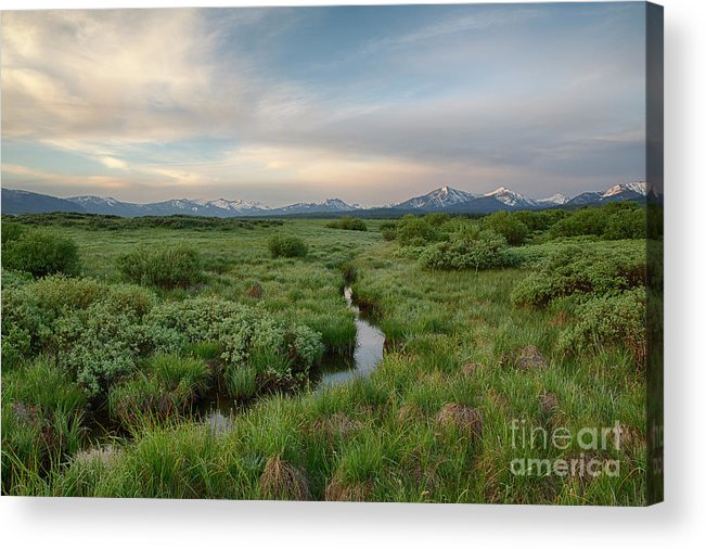 Boulder Mountains Acrylic Print featuring the photograph Sawtooth Valley II by Idaho Scenic Images Linda Lantzy