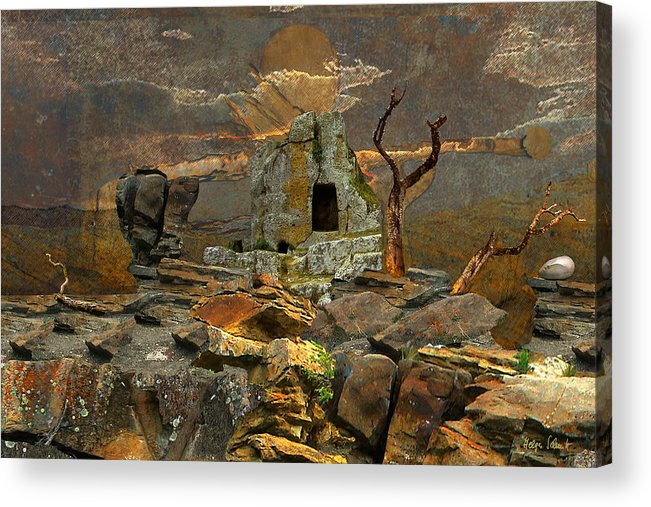 Fantasy Acrylic Print featuring the digital art Scene Of Crime by Helga Schmitt