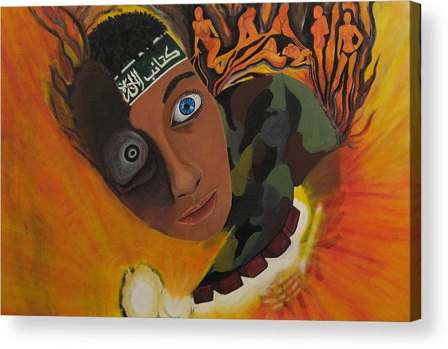 Schoolboy Acrylic Print featuring the painting Schoolboy Fantasy by Darren Stein