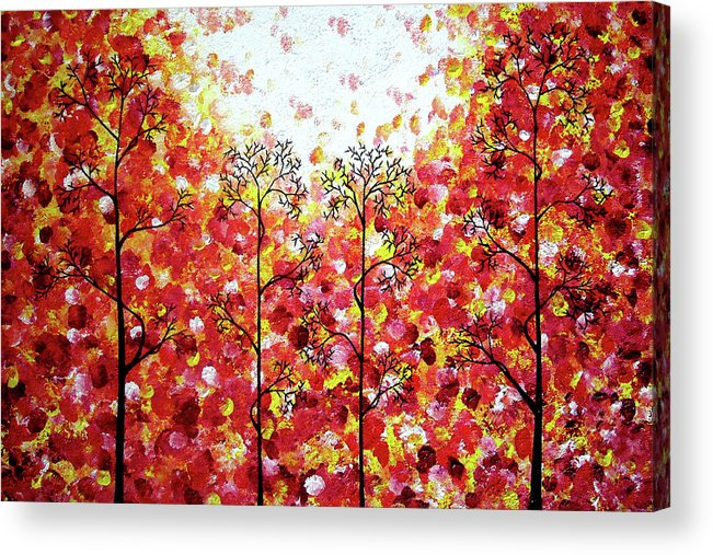 Abstract Acrylic Print featuring the painting Searching For Spring by Daniel Lafferty