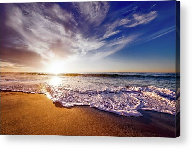 San Diego Acrylic Print featuring the photograph Seaside Sunset by Frank Mackenna