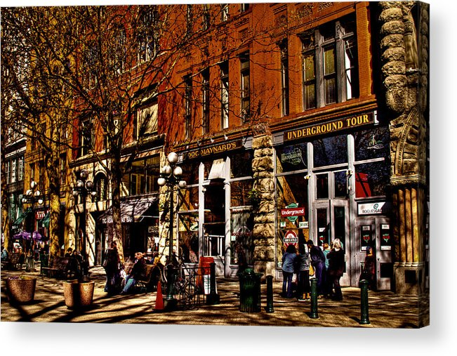 Seattle Taverns Acrylic Print featuring the photograph Seattle's Underground Tour by David Patterson