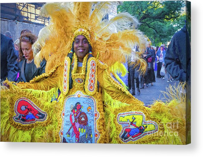 Wedding Acrylic Print featuring the photograph Second Line Nola _ Painted by Kathleen K Parker