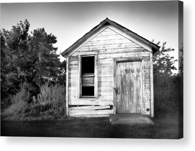 Black And White Acrylic Print featuring the photograph Seen Better Days by Donald Schwartz