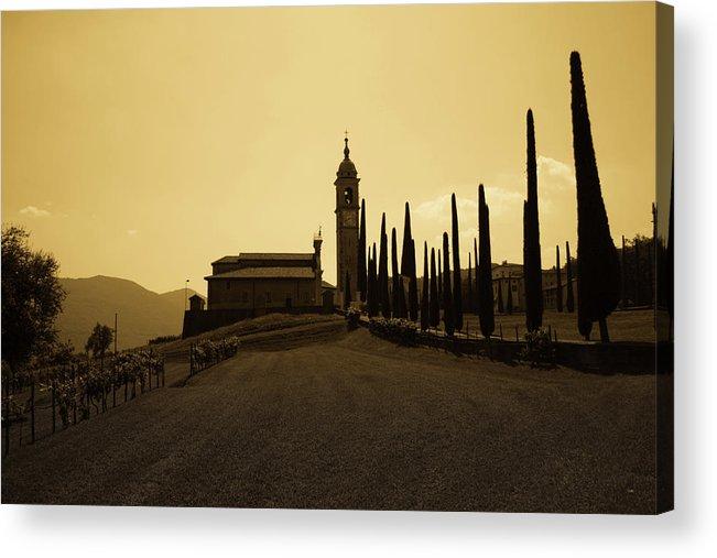 Church Acrylic Print featuring the photograph Sepia Church by Andrea Barbieri