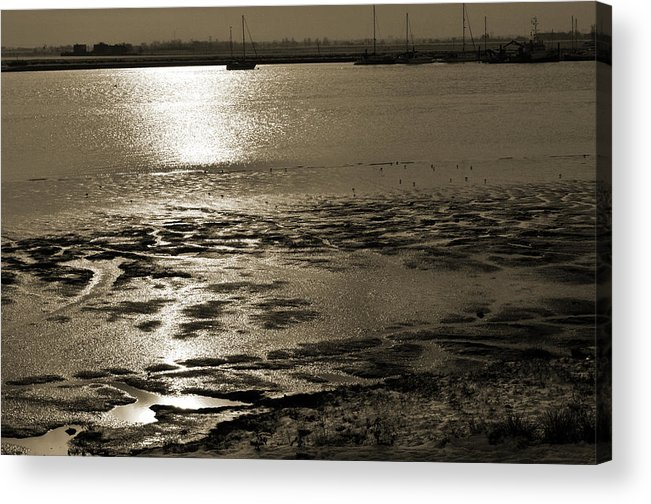 Sepia Tone Acrylic Print featuring the photograph Sepia River by Terence Davis