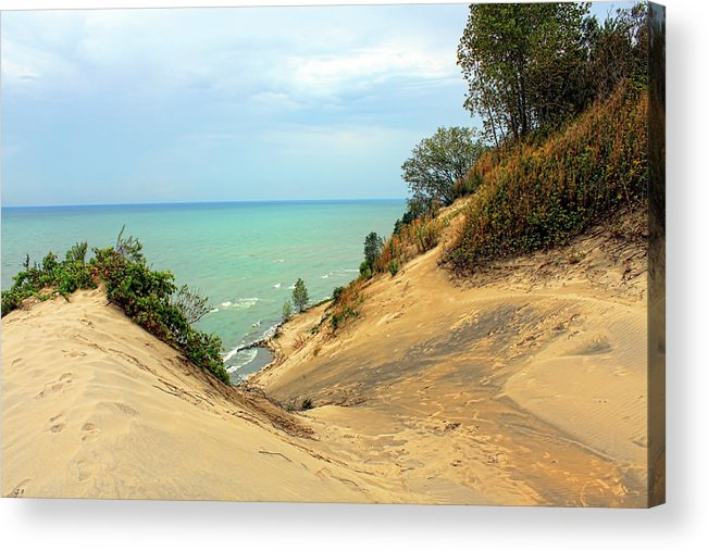Landscape Acrylic Print featuring the photograph Serenity Path To The Lake by Cathy Beharriell