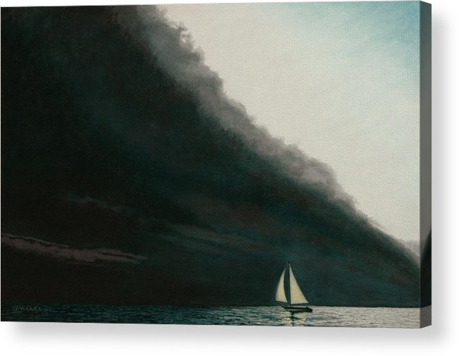 Sailing Acrylic Print featuring the painting Shadow Work by Allan OMarra