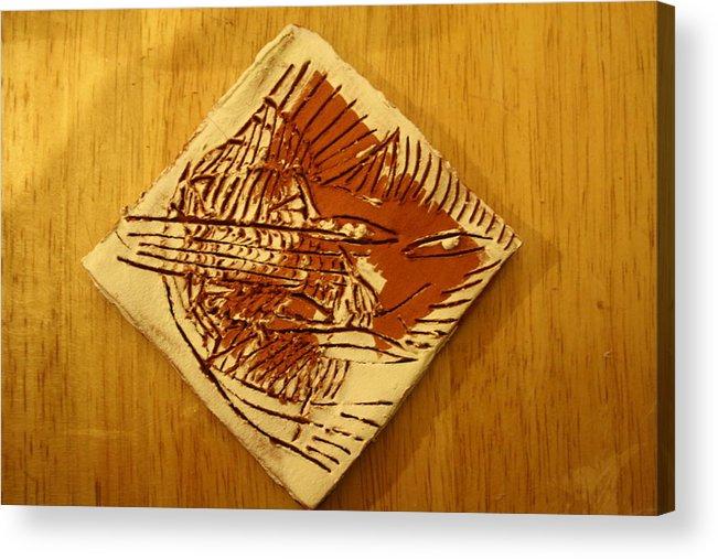 Jesus Acrylic Print featuring the ceramic art Shadows - Tile by Gloria Ssali