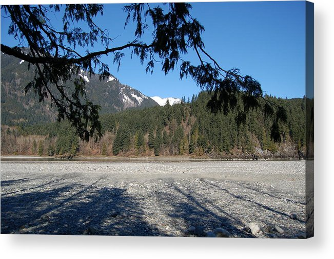 River Acrylic Print featuring the photograph Shadows On The Coquihalla River by J D Banks