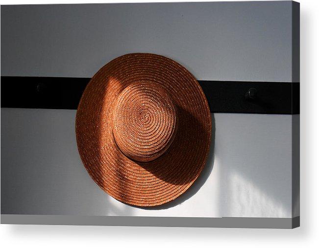 Shaker Acrylic Print featuring the photograph Shaker Hat by Lone Dakota Photography