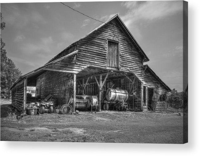 Reid Callaway Still Useful Too Acrylic Print featuring the photograph Shelter From The Storm 2 Wrayswood Barn by Reid Callaway