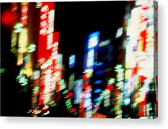 Neon Acrylic Print featuring the photograph Shinjuku Abstraction by Brad Rickerby