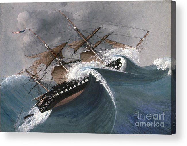 18th Century Acrylic Print featuring the photograph Shipwreck by Granger