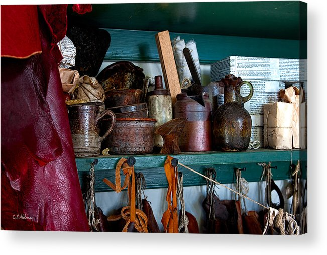 Cans Acrylic Print featuring the photograph Shoemaker Supplies by Christopher Holmes
