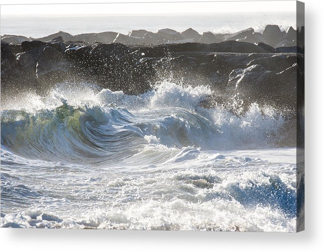 Photo Acrylic Print featuring the photograph Shorebreak Chaos by AM Photography