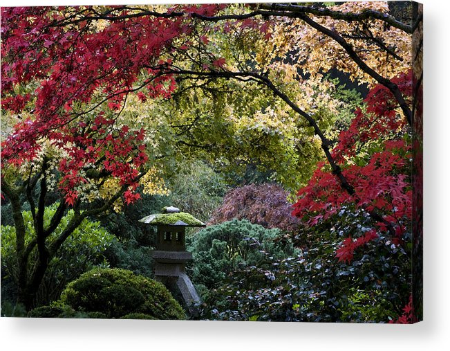 Shrine In Watercolors Acrylic Print featuring the photograph Shrine In Watercolors by Wes and Dotty Weber
