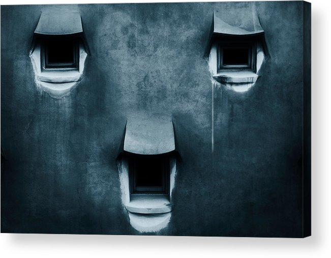 Gaudi Acrylic Print featuring the photograph Silent Cry by Fabien Bravin