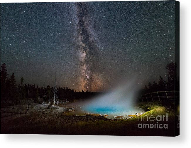 Silex Spring Acrylic Print featuring the photograph Silex Spring Milky Way by Michael Ver Sprill