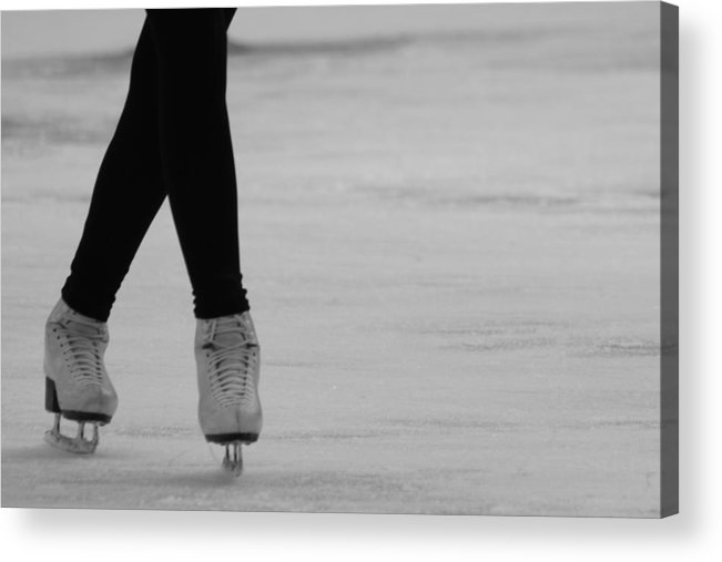 Ice Skate Acrylic Print featuring the photograph Skating by Lauri Novak