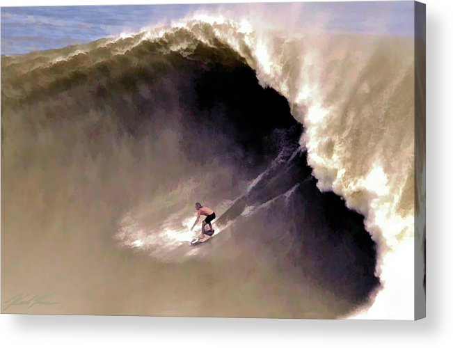 Surf Acrylic Print featuring the digital art Skimmer B Domke by Keith Kos