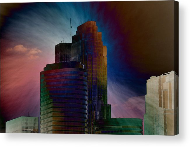 Skyscrapers Acrylic Print featuring the photograph Sky Disruptors by John Ricker