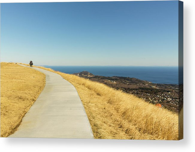 Mount Acrylic Print featuring the photograph Sky Road by Irina Sato