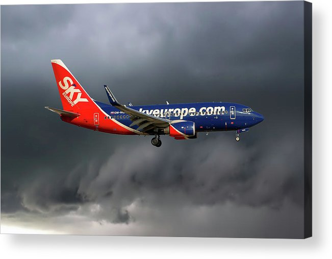 Passenger Acrylic Print featuring the photograph Skyeurope Boeing 737-7gl by Smart Aviation