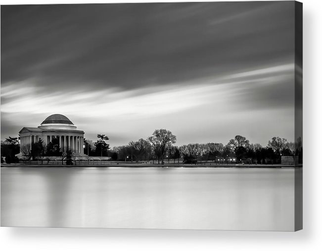Black And White Acrylic Print featuring the photograph Sleeping Giant by Edward Kreis