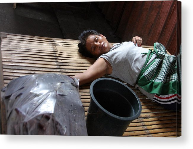 Photographer Acrylic Print featuring the photograph Sleepy Days by Jez C Self