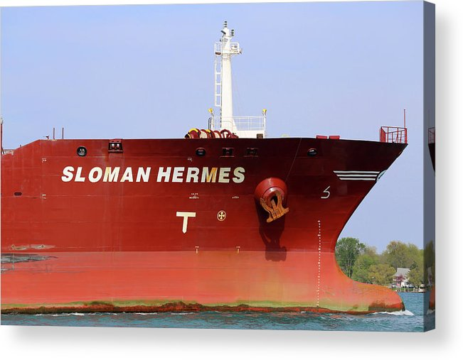 Sloman Hermes Acrylic Print featuring the photograph Sloman Hermes Detail 051718 by Mary Bedy