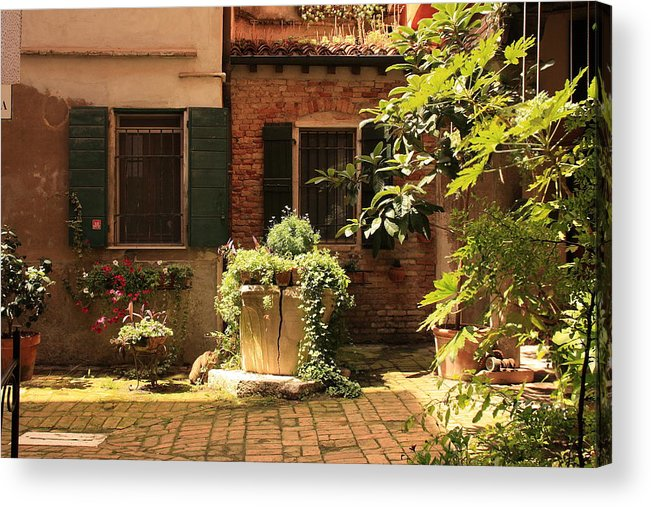 Venice Acrylic Print featuring the photograph Small Campo In Venice by Michael Henderson