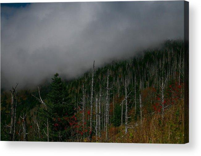 Smokey Mountains Acrylic Print featuring the photograph Smokey Mountains by James Jones