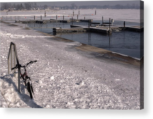 Bicycle Acrylic Print featuring the photograph Snow And Ice by Tim The Bikeman