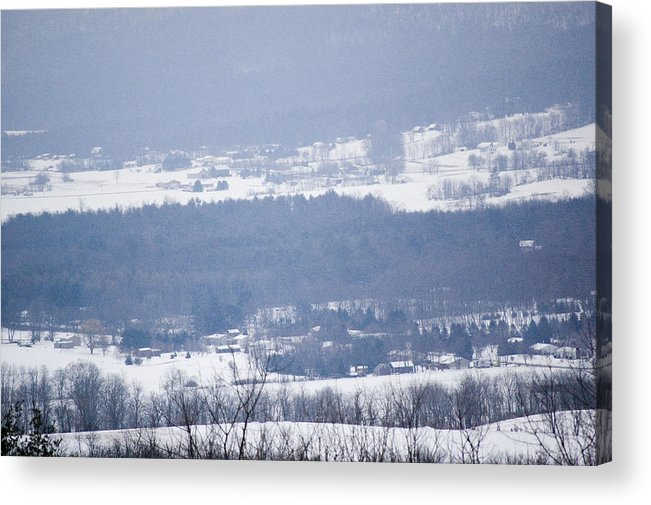 Valley Acrylic Print featuring the photograph Snow In The Valley by Richard Botts