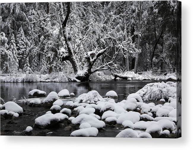 Winter Acrylic Print featuring the photograph Snowy River by Dan Peak